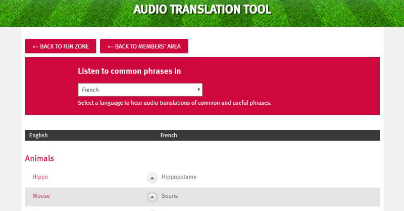 Translation tool-web