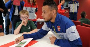 Francis Coquelin at the Arsenal Hub